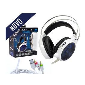 Fone De Ouvido Headset Gamer 7.1 Usb P2 Kp-402 Branco