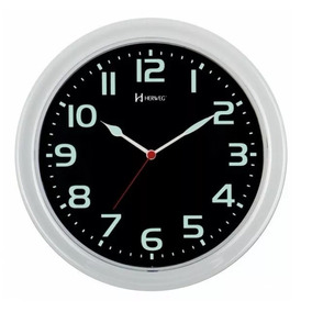Relógio Parede Herweg 660016 283 Branco Verde Fluorescente