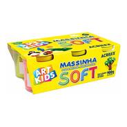 Massinha Soft C/6 150g Acrilex Art Kids