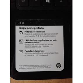 Noteboock Hp 15 H006la - 15,6 - Como Nueva