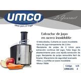 Extractor De Jugo Umco Factura Y Garantia