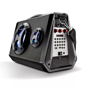 Caixa De Som Portátil Sp217 80w Bluetooth Led Amplificad Usb