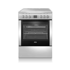Cocina Electrica Vitroceramica Atma Cce3220x Inox 4 Placas