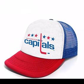 Gorra Trucker Nhl Hockey Equipos Modelo Washington Capitals