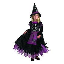 Disfraz De Bruja Para Niña Talla 2t - Morado/negro