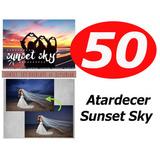 50 Sunset / Atardecer Sky Photoshop Overlays Profesional !!
