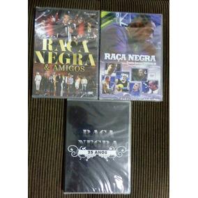Kit 3 Dvds Raça Negra Amigos, 25 Anos,jovem Guarda Originais
