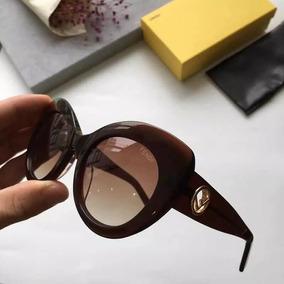 8503566d3b01f Oculos De Sol Gatinho Marrom Fendi - Óculos no Mercado Livre Brasil