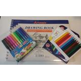 Crayones Escolares Alba X 12 Colores + 1 Block + 12 Fibras