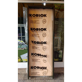 Puerta Placa Koblok 80x200 Con Marco Chapa 10 O 15 Cm