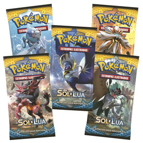 Pokemon Cartas - Sol E Lua Com 6 Cards