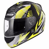 Casco Moto Integral Ls2 Ff 352 Infinite Negro Blanco Amarill