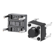 Lote De 6 Pulsador Switch Nabierto 6x6x5mm Arduino -pdiy-