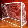 2 Redes Arco Papi Futbol Salon Chico 3 X 2 M Polietileno 2,3