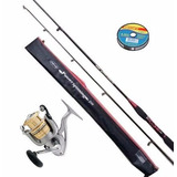 Combo Equipo Daiwa Spinning Power Carbon + Obsequio