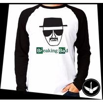 Manga Longa Breaking Bad Heisenberg Série Tv Blusa Camisa H4