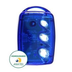 Controle Remoto Transmissor Linear-hcs Tx 3 Botões Azul