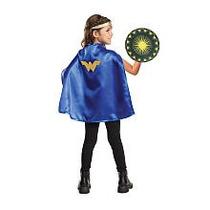 Disfraz Wonder Women/ Capa Corona Y Escudo O Espada