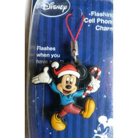 Chaveiro Disney P/ Celulares, Bolsas - Mickey De Natal