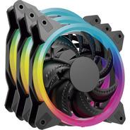 Kit 3 Ventiladores Ocelot Ogpf01 Para Gabinete Gamer