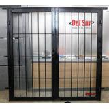 Puerta Porton De Reja 150x200 Cuadrado De Media C/ Cerradura