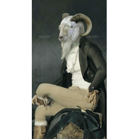 Lienzo Canvas Arte Animales Vintage Borrego Cimarron 90x50