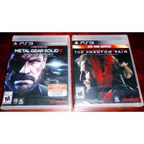 Lote 2 Videojuegos Metal Gear Solid V Mgs 5 Ps3 Sellados