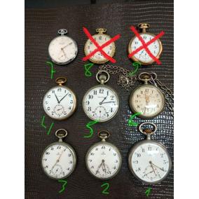 Relógios De Bolso, Omega Calibre 19, Cyma, Elgin, Roskoph