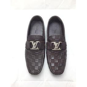 Mocasines Louis Vuitton Lv Damier Café Envío Gratis