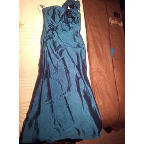 Vestido Maria Isabel Color Turquesa Oscuro Talla M