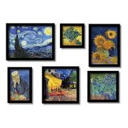 Van Gogh Kit 6  Quadros Mais Famosos Reprodução Do Original