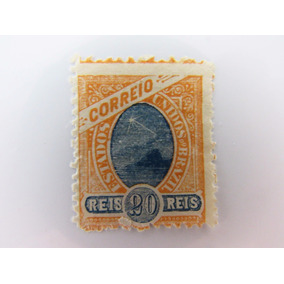 Selo Brasil Regular 20 Réis Madrugada Novo Margem Grande