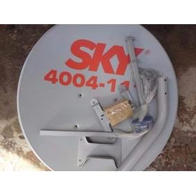 Antena Sky+lnb Faixa Larga+100m Cabo Rg59+chave Comutadora