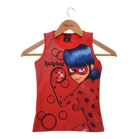 Regata Infantil Feminina Ladybug - Vermelha - Malwee ffe8be2087bed