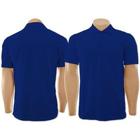 Pacote Com 4 Camisetas Gola Polo Azul Marinho Extra G 9a89766d025e1