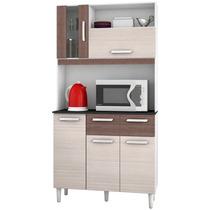 Armário P/ Cozinha 5 Portas 2 Gavetas - Poquema Kit Ellen