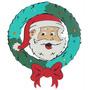 Guirlanda Papai Noel Para Decoração De Natal Em Eva