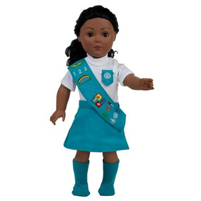 Muñeca Traje Similar A Junior Girl Scouts Con Calcetines |