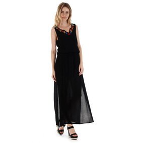 Vestido Longo Feminino Facinelli - Preto