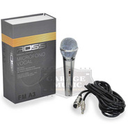 Microfono Karaoke Ross Fm A3 Original Dinamico Vocal Cable