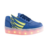 Lukai Tenis Luces Led Luminosos Azul 15 A 17 Envio Gratis