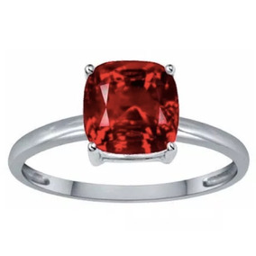 Anillo Con Ruby Corte Cushion De 4.85 Ct.
