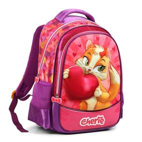 Mochila Bolsa Costas Escolar Feminina Infantil Rosa M0042