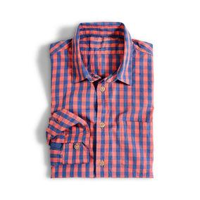 Camisa Manga Larga Wooster Color Siete Para Hombre - Naranja
