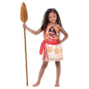 Fantasia Vestido Moana / Mauí Coleção Nova Todos 3 Anos