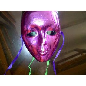 Máscaras Verde Y Rosa Decorativas O Para Fiestas De Disfraz