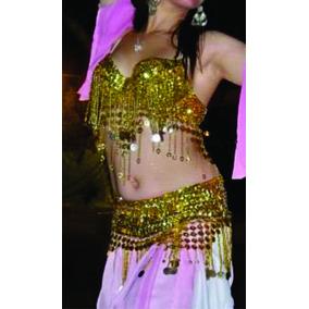 Corpiño Y Faja Dorada Danza Arabe
