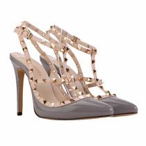 Sapato Feminino Scarpin Em Verniz Importado Várias Cores