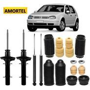 4 Amortecedor + Kit Batente Do Golf Sport Line 07 Até 13