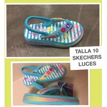 Zapatillas Skechers Luces Talla 10 Americanos Niña